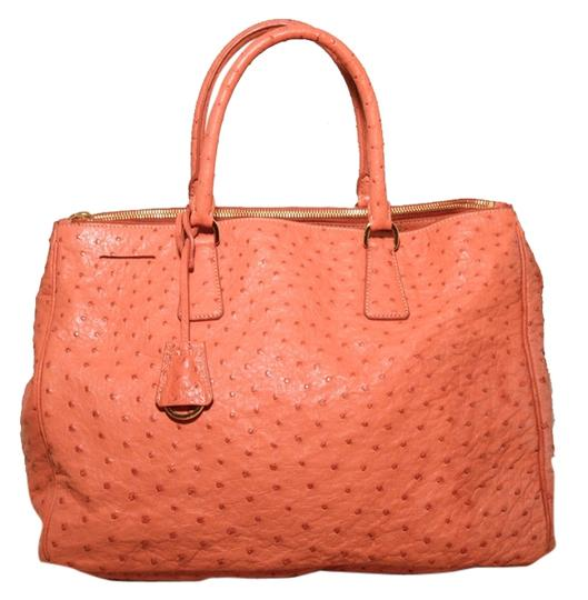 Preload https://item1.tradesy.com/images/prada-galleria-coral-saffriano-leather-peach-ostrich-tote-9043720-0-1.jpg?width=440&height=440