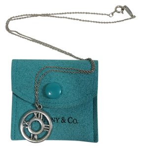 Tiffany & Co. Tiffany & Co. Atlas Round Pendant Necklace 925 Sterling Silver 16
