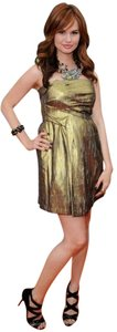 BCBGeneration Metallic Strapless Shift Dress