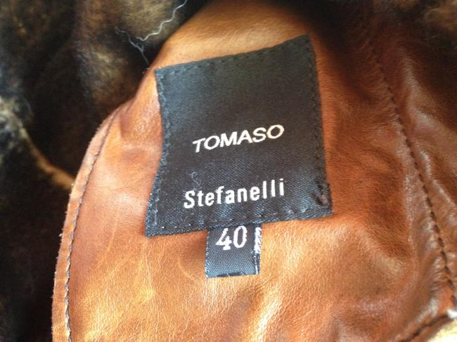 Stefanelli Nwot Couture Made In Italy Tomaso STEFANELLI Coffee Leather Jacket