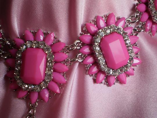 Other Pink Chroma and Austrian Crystal in Silvertone and Stainless Steel