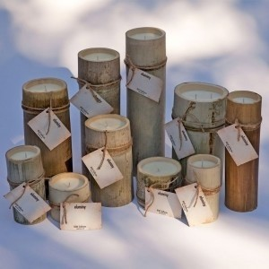 Other Hand-crafted Natural Bamboo Votive/Candle