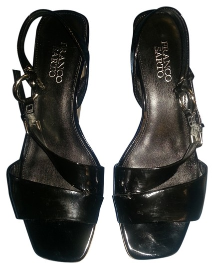Franco Sarto Patent Leather Cork Summer black Wedges