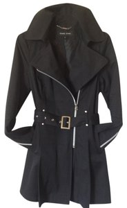 Black Rivet Nwot Fitted Cosmopolitan Duster Rain Trench Coat