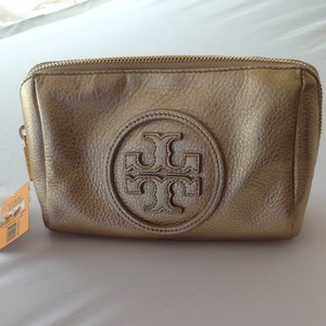 Tory Burch Tory Burch Large Gold Cosmetic Bag