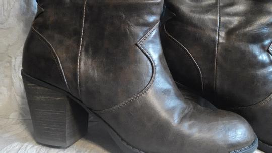 Diba Western Faux Leather Pull-on Traction Brown Boots