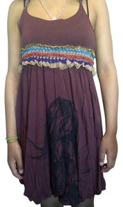 One A short dress brown Summer Chic on Tradesy