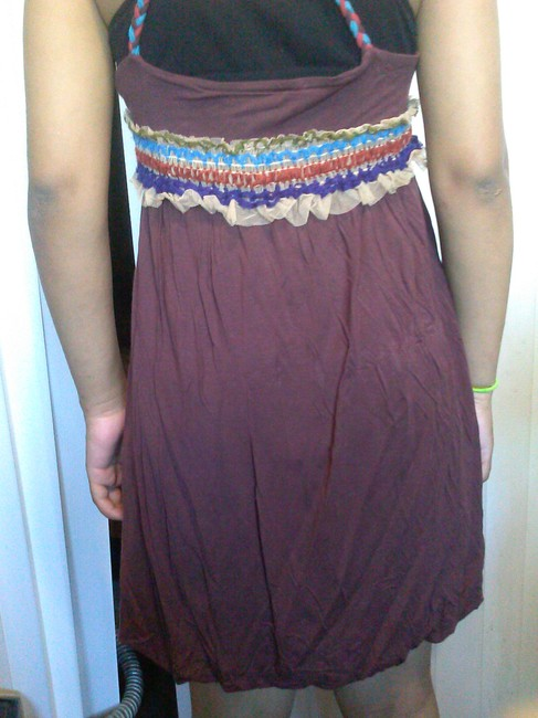 One A short dress brown Summer Modal Chic on Tradesy