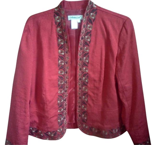 Preload https://item5.tradesy.com/images/coldwater-creek-red-embroidered-holiday-formal-blazer-size-petite-8-m-904979-0-1.jpg?width=400&height=650