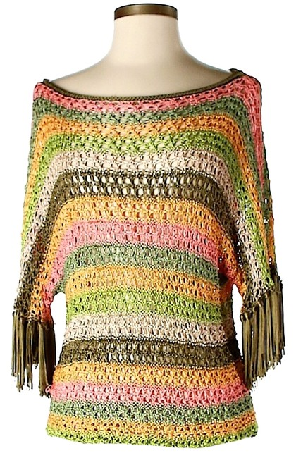 Calypso St. Barth Striped Crochet Sweater