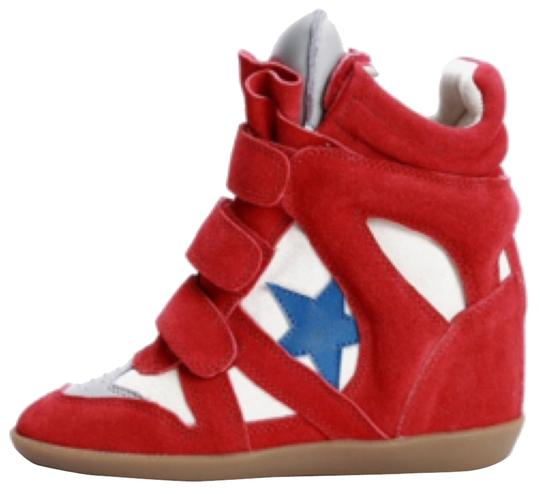 Preload https://item2.tradesy.com/images/isabel-marant-red-cream-and-royal-blue-sneakers-size-us-7-regular-m-b-9051301-0-2.jpg?width=440&height=440