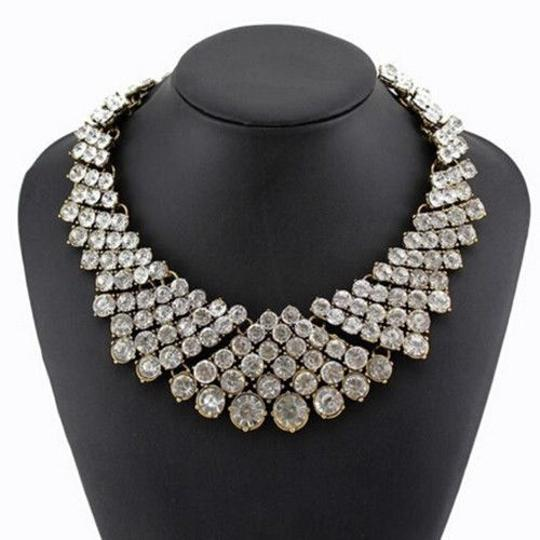 Preload https://item2.tradesy.com/images/clear-fashion-charm-pendant-chain-crystal-choker-chunky-bib-statement-necklace-9053071-0-0.jpg?width=440&height=440