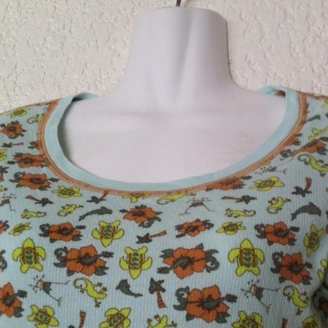 Free People Geckos Dolphins Turtles Thermal T Shirt Multi