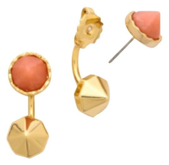 Preload https://img-static.tradesy.com/item/9053602/rebecca-minkoff-gold-coral-orange-front-back-post-earrings-0-2-540-540.jpg