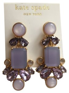 Kate Spade Kate Spade NY Gold Filled Glitzy Spritz Crystal Long Earrings