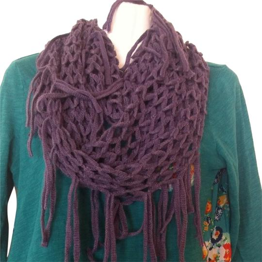Other Purple Fringed Infinity Scarf