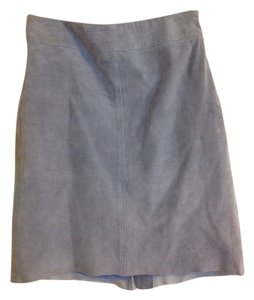 Express Suede Classic Fall Mini Skirt Light blue