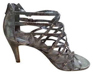 Franco Sarto Heels Metallic Silver Sandals