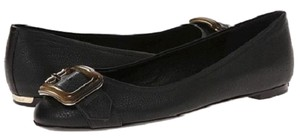 Burberry Women Engraved Plaque Ballerina Engraved Brand Name black Flats