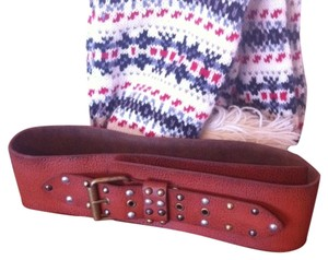 Other Wide Leather Belt with Studs