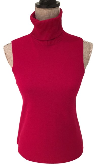 Preload https://img-static.tradesy.com/item/9054439/red-cashmere-sleeveless-turtleneck-shell-small-sweaterpullover-size-6-s-0-2-650-650.jpg