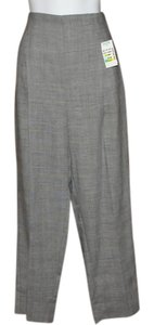 Harvé Benard Classy Design & Tiny Hounds Tooth Side Zipper Pleated Front 10 P Side Pockets Pants