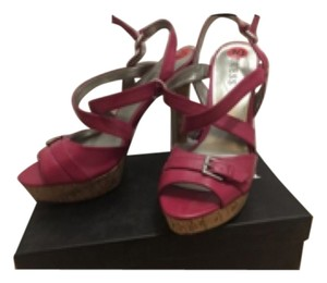 Guess Pink Wedges