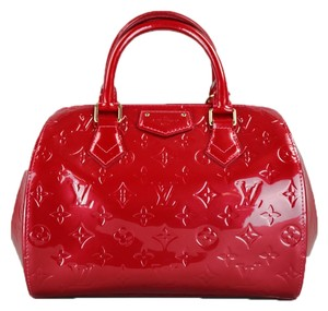 Louis Vuitton Speedy Lv Collectible Satchel in Red