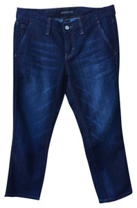 Banana Republic Crop Cropped Fall Winter Capri/Cropped Denim-Dark Rinse
