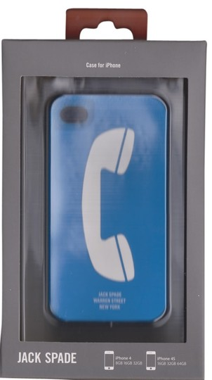 Jack Spade Jack Spade Payphone Chit Chat Blue silicone case cover for iPhone 4/4S