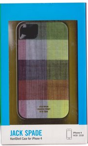 Jack Spade Jack Spade Plaid design Premium Hardshell case cover iphone 4/4S