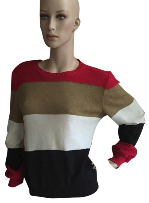 Preload https://item1.tradesy.com/images/red-black-camel-white-sweaterpullover-size-12-l-9055825-0-1.jpg?width=400&height=650