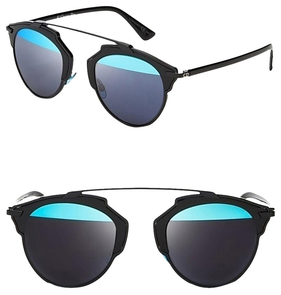 2771e92b7113 Dior Black Blue  so Real  48mm Mirrored Black Blue Sunglasses - Tradesy