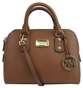 Michael Kors Leather Satchel in brown