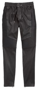 Balmain x H&M Leather Pants Relaxed Fit Jeans