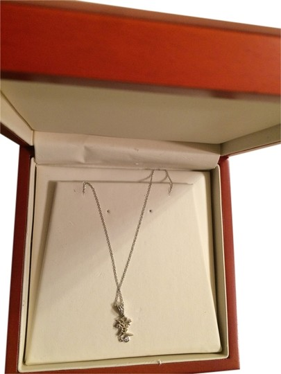Preload https://item3.tradesy.com/images/14k-white-gold-with-diamond-chain-love-pendant-necklace-9056872-0-2.jpg?width=440&height=440