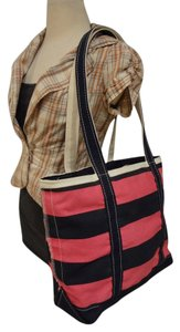 L.L.Bean Tote in NAVY BLUE AND DARK PINK