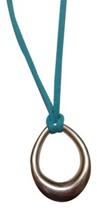 Premier Designs Rhodium Plated Silver Pendant with Turquoise and Brown Leather Necklaces (pricing is negotiable)