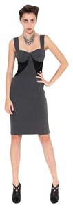 Black Halo Color-blocking Sheath Dress