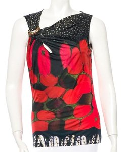 Roberto Cavalli Top Red multi color