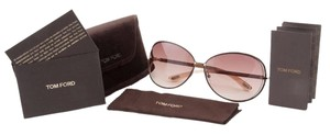 Tom Ford TOM FORD FT0158 $395 Womens Clemence Sunglasses Shiny Brown