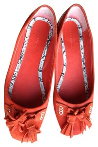 Banana Republic Suede Orange & Snake Flats
