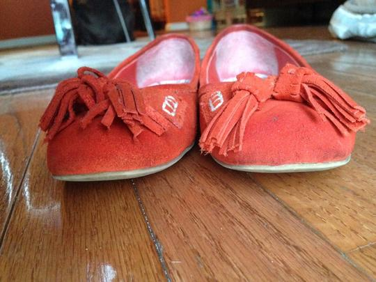 Banana Republic Suede Summer Skin Orange & Snake Flats