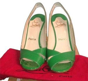 Christian Louboutin Green Wedges