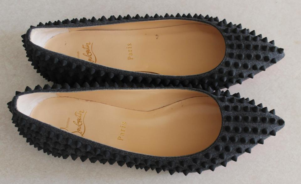 replicas christian louboutin - Artesur ? christian louboutin pointed-toe Pigalle Spike flats Grey ...