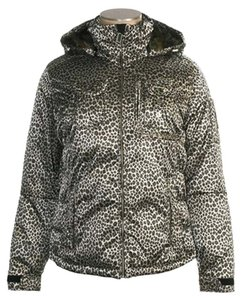 Obermeyer Animal Print Down Filled Removable Hood Coat