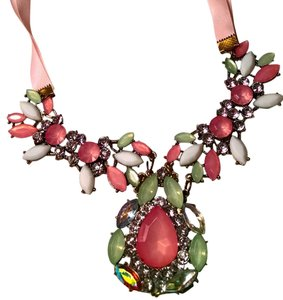Betsey Johnson Betsey Johnson Bib Necklace Pink Green J1527