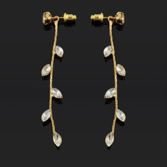 Other New 14K Gold Filled Earrings Dangle Cubic Zirconia J1529