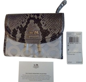 Coach Julia Embossed Python Leather Wallet