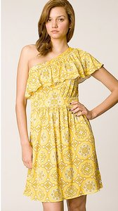 Juicy Couture Print Silk One Shoulder Dress